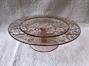 Fostoria Brocade Compote/open Candy - Unique Paradise Etching 1927-30