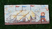 Hand Painted Tar Paper Antique Circus Advertising Poster Side Show Tent Salvaged