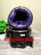 31 Cm Natural Amethyst Crystal Lucky Feng Shui Specimen Energy Heal Statue F044