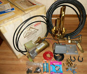 Nos Challenger Train Truck Boat Air Horn Whistle Solid Brass W/compressor In Box