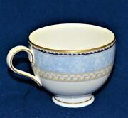 New Noritake Bone Chine Blue Marble Rim Leaves Band Alsatia Footed Cup
