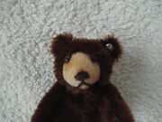Rare Steiff Early 1950s Brown 3.5 Baby Bear With Button In Fantastic Condition.