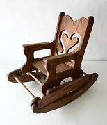 Vintage Wooden Oak Baby Rocker And High Chair