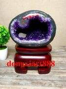 28 Cm Natural Amethyst Crystal Lucky Feng Shui Specimen Energy Heal Statue F045