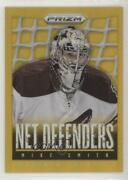 2013-14 Panini Prizm Net Defenders Gold /10 Mike Smith Nd-20