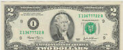 2003 X6 ✯lightly Circulated Two Dollar Bill 2 Note Non Consecutive Lot Fancy