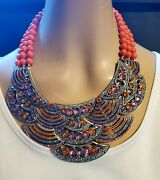 Heidi Daus Icing On The Cake Beaded Crystal Statement Necklace Ret 789.95