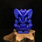 4.3 Chinese Hongshan Culture Blue Tigerey Stone Carved Buddha Statue Pendants