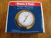 Weems Plath 6010700 Polished Brass Barometer Trident Collection 3 Dial