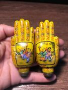 3.3 Chinese Old Qianlong Glass Hand Painting Child Infant Play Snuff Bottles
