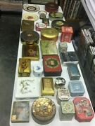 Huge Collection Of Antique Vintage Decorative Tins Boxes And Trays 42 Pieces