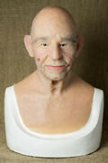 Robert Hand Made, Silicone Mask Halloween, High Quality, Old Man, New