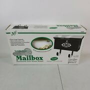 White With Brass Lid. Lockable Security Mailbox. New