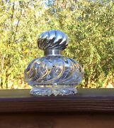 Abp Cut Glass John Hoare Inkwell With Sterling Top