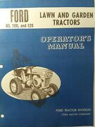 Ford 80 100 120 Lawn Garden Tractor Owner And Parts 2 Manual S Jacobsen 1966-71