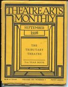 Theatre Arts Monthly 9/1928-london Theater-early Stage Productions-g