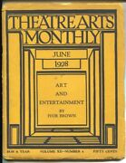 Theatre Arts Monthly 6/1928-world Theater-early Stage Productions-g