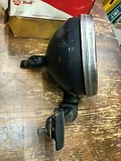 Large Vintage Wood Newtype Spotlamp Early Old Search Spot Lamp Light And Bracket