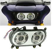 Headlight Led Double Set Lamp For Harley Touring Road Gl