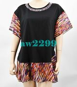 Spring 2012 Most Wanted Crystal Embellished Cc Logo Blouse Multi 46 Mint