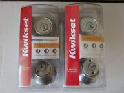 665 Set Of 2 Kwikset Double Cylinder Deadbolts - One With Microban Rcs K6 V1