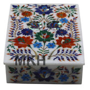 Marble Jewelry Box Trinket Vintage Inlay Art Jewellery Boxes Marquetry Scagliola