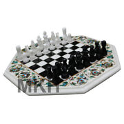 Christmas Offer Price Marble Inlay Chess Board Game Art Vintage Coffee Table Top