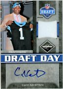 2011 Limited Draft Day Cam Newton Rc Auto Jersey 10/15 1