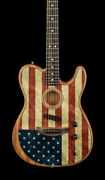 Fender Limited Edition American Acoustasonic Telecaster - American Flag 7284a