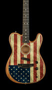 Fender Limited Edition American Acoustasonic Telecaster - American Flag 7269a