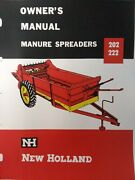 New Holland 202 222 Manure Spreader Farm Agricultural Tractor Owners Manual 1963