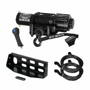 Winch Kit 4500 Lb Wide For Kawasaki 820 Mule Pro-fxt/fx 15-20 Synthetic Rope