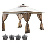 Vevor 12'x12' Pop-up Canopy Gazebo Outdoor Tent W/ Air Vent And Netting Sidewalls