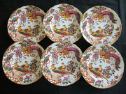 Royal Crown Derby Olde Avesbury A74 - 6 X Dessert Or Salad Plates 8½ins. A