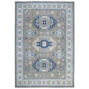 9and0398x13and0393 Gray Vintage Look Kazak Hand Knotted Pure Wool Oriental Rug R55967