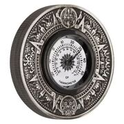 2018 2 Thermometer 2oz Silver Antiqued Coin