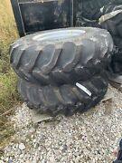 16.9-24 Tire And Rims Set Of 2 Good Year New Mahindra Tractor Ew 04 14252 00 24w