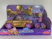 New Shopkins Happy Places Royal Trends Convertible Tiara Sparkles Doll Car