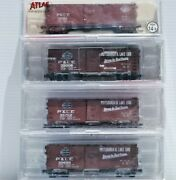 Pittsburgh And Lake Erie Rr. 4 X N Scale 40' Box Cars. Intermountain And Atlas