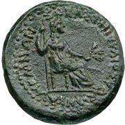 Tiberius And Livia 14ad Authentic Ancient Roman Coin Of Greek Sardes Lydia I86786
