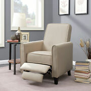 Recliner Chairs Living Room Rv Recline Club Chair Home Furniture Theater Beige