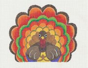 Larry The Turkey Handpainted Needlepoint Canvas And Stitch Guide Raymond Crawford