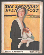 Saturday Evening Post 5/13/1933-cover By Chas W Dennis-mary Roberts Rinehart-...