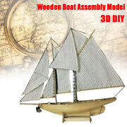Wooden Ship Model Kit 187 Scale Classics Sail Boat Diy Toys Christmas Gift