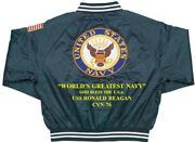 Uss Ronald Reagan Cvn-76 God Bless The Usa Embroidered 1-sided Back Only