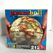 Globe Puzzle Tdc Games Jigsaw Ball Spherical Antique 9 3d 212 Pieces Brand New