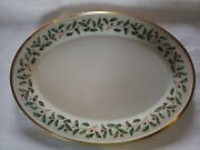 Vintage Lenox Holiday Dimensions Bone China 22k Gold Oval Service Plate