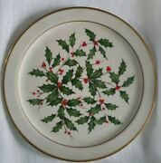 Vintage Lenox Holiday Dimensions Bone China 22k Gold Round Service Plate