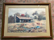 Antique Authentic Rare Gary Jenkins Signed Print
