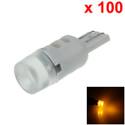 100x Yellow Auto T10 W5w Wedge Light Parking Bulb 3 1206 Smd Led 280 285 447 A09